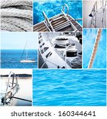 Yacht collage - Yachting concept - stock photo