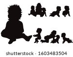 vector silhouette of collection ... | Shutterstock .eps vector #1603483504