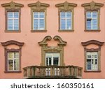 historic window front with... | Shutterstock . vector #160350161