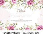 elegant floral wedding... | Shutterstock .eps vector #1603503121