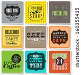 retro vintage  colored bakery... | Shutterstock .eps vector #160355435