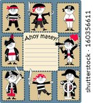 Ahoy Matey Pirate Boys Card