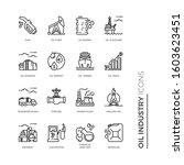 simple set of oil industry... | Shutterstock .eps vector #1603623451