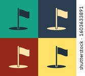 color flag icon isolated on...
