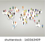 a large group of people from... | Shutterstock .eps vector #160363409