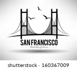 Stock vector modern san francisco bridge design 160367009