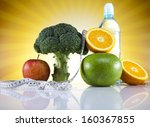 fitness food  diet  vegetable... | Shutterstock . vector #160367855