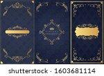 set of decorative design...   Shutterstock .eps vector #1603681114