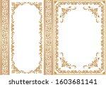 set of decorative design...   Shutterstock .eps vector #1603681141