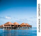 villa on piles on beautiful...   Shutterstock . vector #160368905
