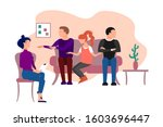 three people in polygamy... | Shutterstock . vector #1603696447