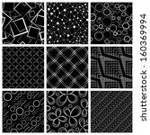 seamless pattern set   Shutterstock .eps vector #160369994
