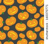 a cute retro halloween... | Shutterstock .eps vector #160370771
