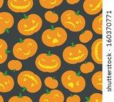 a cute retro halloween... | Shutterstock .eps vector #160370771