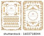 set of decorative design...   Shutterstock .eps vector #1603718044
