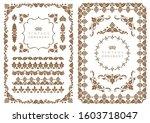 set of decorative design...   Shutterstock .eps vector #1603718047