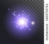 light effect glow. bright star. ... | Shutterstock .eps vector #1603724761