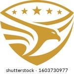eagle stars  shield emblem... | Shutterstock .eps vector #1603730977