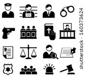 legal  justice and court icon... | Shutterstock .eps vector #160373624