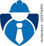 worker shield  | Shutterstock .eps vector #1603746901