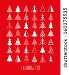 set of 42 christmas trees  | Shutterstock .eps vector #160375535