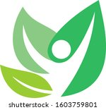 three leaf human abstract   | Shutterstock .eps vector #1603759801