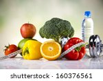healthy lifestyle concept  diet ... | Shutterstock . vector #160376561