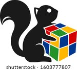 squirrel and cube | Shutterstock .eps vector #1603777807