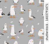 Seagulls Seamless Pattern....