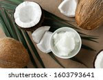 Image Of Coconut Oil And Fresh...