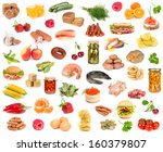 set of different food isolated... | Shutterstock . vector #160379807