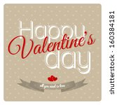 happy valentines day cards with ... | Shutterstock .eps vector #160384181