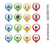 set of sound and music icons ... | Shutterstock .eps vector #160385744