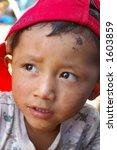el salvadoran boy | Shutterstock . vector #1603859