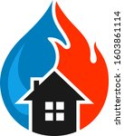 save the house from floods and...   Shutterstock .eps vector #1603861114