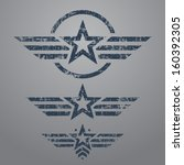 Abstract Grunge Military Star...