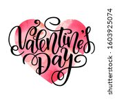 happy valentine s day card.... | Shutterstock . vector #1603925074