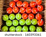 top view of red and green... | Shutterstock . vector #160393361