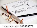 risk management data flow on... | Shutterstock . vector #160393571