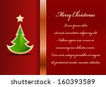 red christmas background with... | Shutterstock .eps vector #160393589