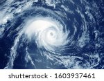 Hurricane from space. the...
