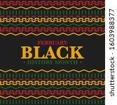 black history month. african...   Shutterstock .eps vector #1603988377