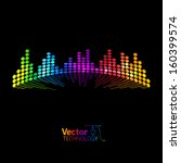 musical colored equalizer | Shutterstock .eps vector #160399574