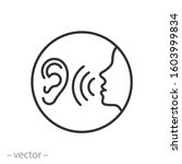 listen carefully to the speaker ... | Shutterstock .eps vector #1603999834