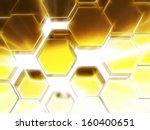 Gold Honeycomb Pattern...