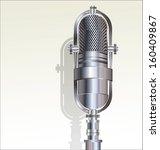 retro microphone | Shutterstock .eps vector #160409867