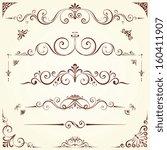 vector swirl ornate motifs....   Shutterstock .eps vector #160411907