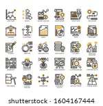 set of research and analysis... | Shutterstock .eps vector #1604167444