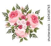 pink roses bouquet. vector...   Shutterstock .eps vector #160418765
