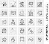 set of 25 universal business...   Shutterstock .eps vector #1604188117